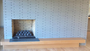 modern fireplace Asheville