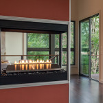 fireplace in Asheville home