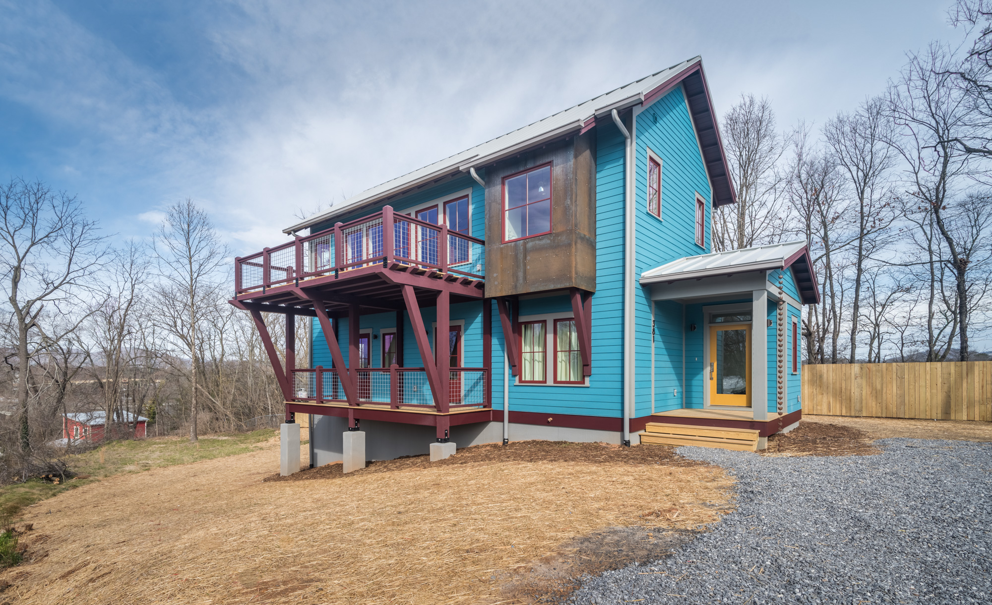 Custom home in river arts district bellwether builders for Spec home builders near me